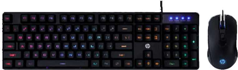 Teclado + mouse HP gaming km200 usb esp negro - 0