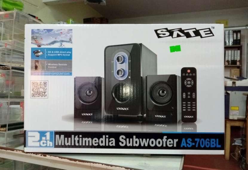 Subwoofer multimedia Sate as-706bl usb/sd/bt/fm - 1