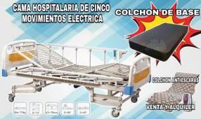 Alquiler de cama hospitalaria de cinco movimientos eléctrica