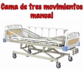 Alquiler de cama hospitalaria de tres movimientos manual