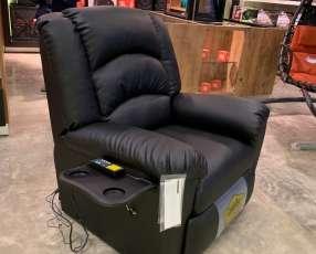 Sofá masajeador reclinable