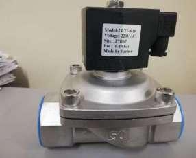 Válvula Solenoide de cuerpo inox para vapor rosca 2 pulgadas