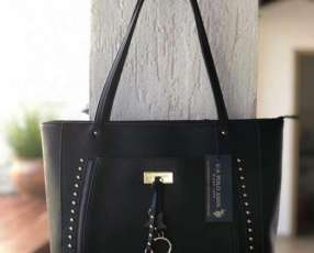 Cartera U.S. Polo negra