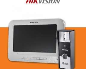 Vídeo portero hikvision HD + 30 mts cable instalado