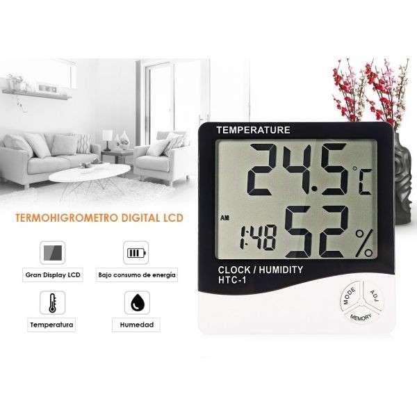 Termohigrometro Digital - Medición de Temperatura y Humedad - 4