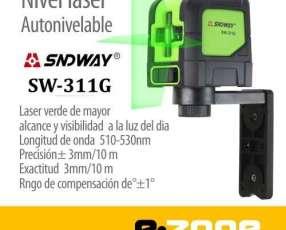 Nivel laser SNDWAY de 2 líneas auto-nivelable