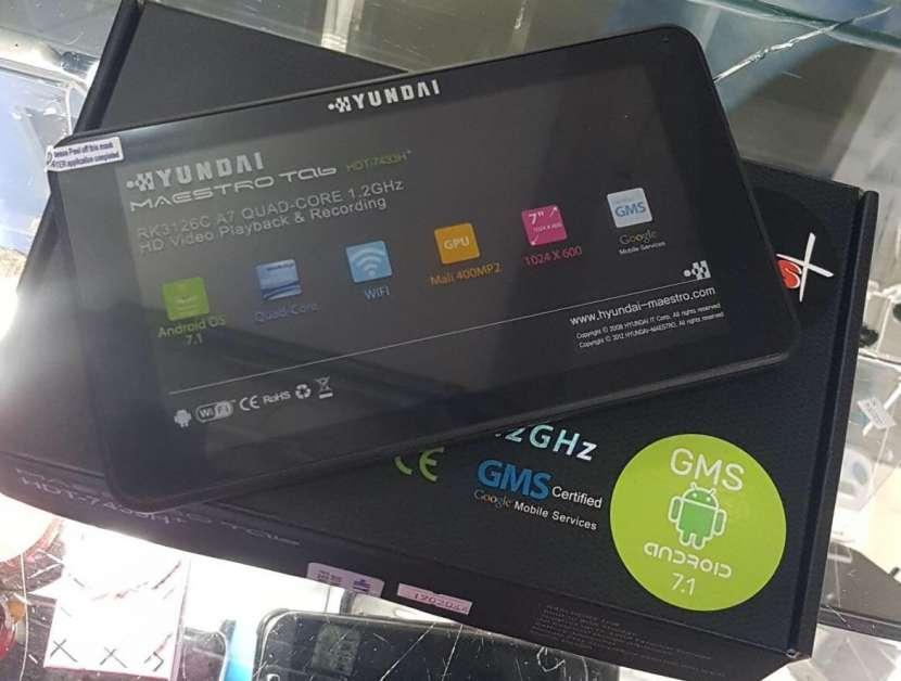 Tablet Hyundai solo wifi nuevo + goma - 0