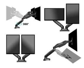 Soporte para tv pantalla de mesa para 1 2 o 3 monitores