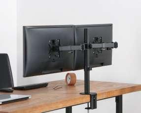Soporte para tv pantalla de mesa para 2 monitores ELF F160