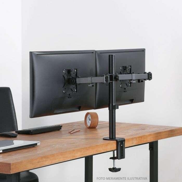 Soporte para tv pantalla de mesa para 2 monitores ELF F160 - 0