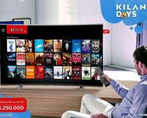 Smart TV Kiland 4K Curvo de 55 pulgadas