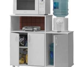 Mueble politorno para horno microondas y bebedero