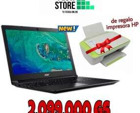 Notebook Acer con impresora HP de regalo
