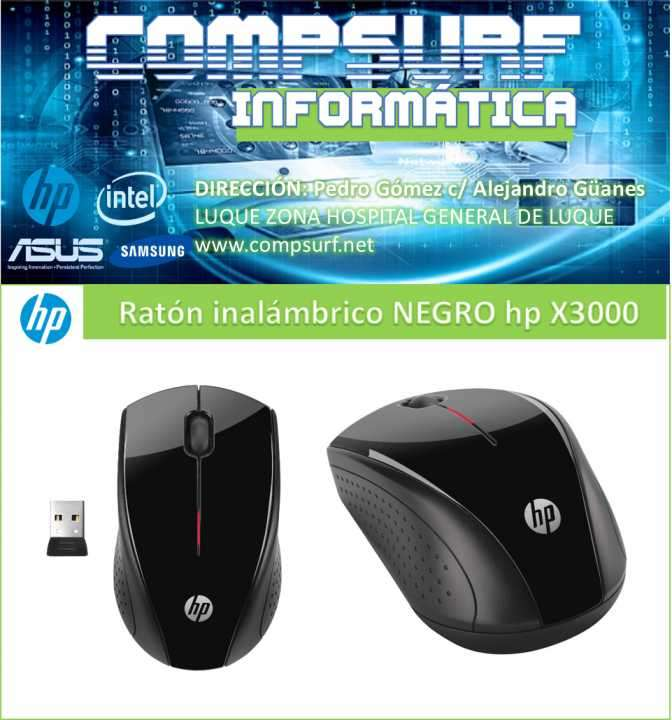 Mouse inalámbrico Hp X3000 Negro - 0