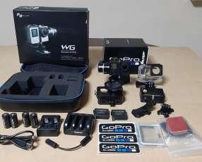Combo cámara gopro hero 4 silver y estabilizador feiyu tech