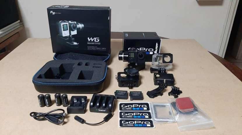 Combo cámara gopro hero 4 silver y estabilizador feiyu tech - 0
