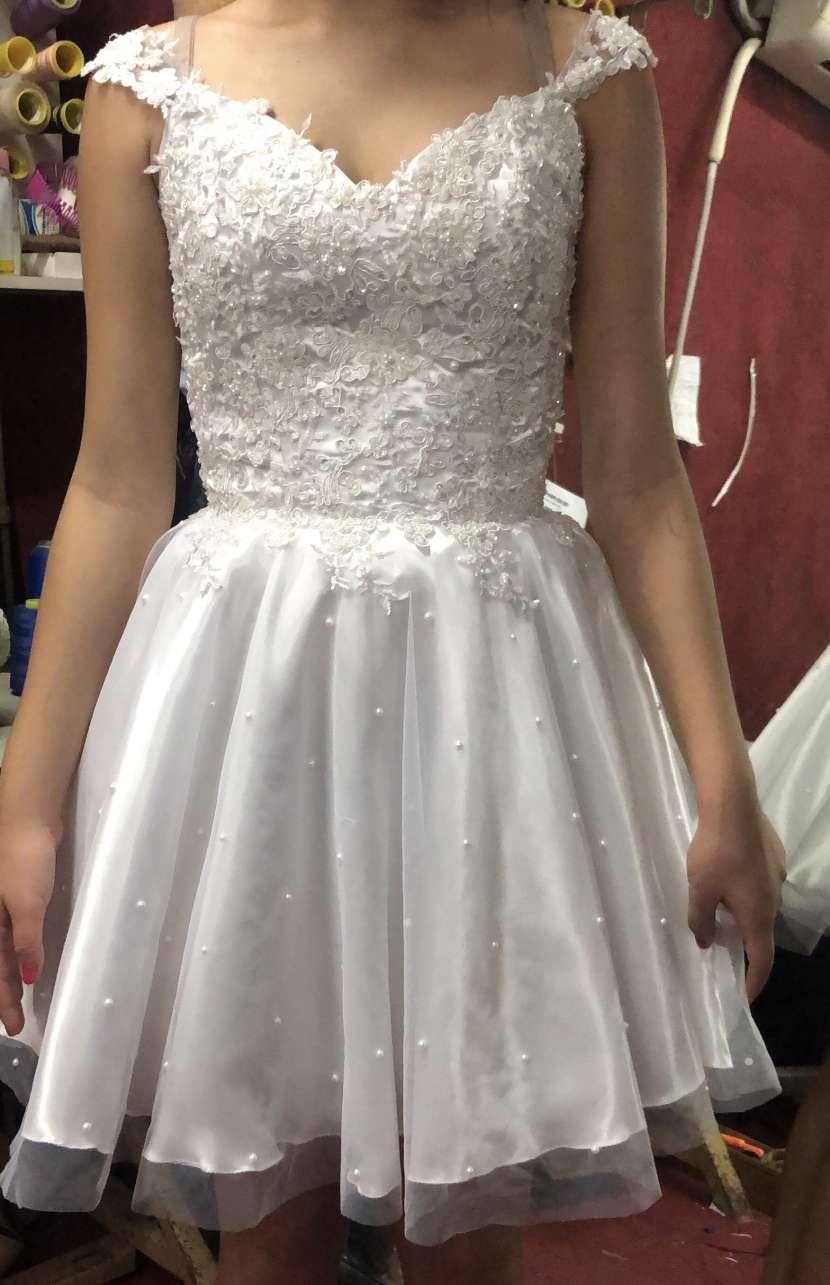 Vestido blanco talle chico - 0