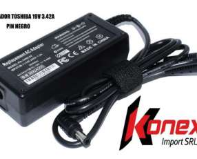 Cargador Toshiba 19V 3.42A pin negro (G)