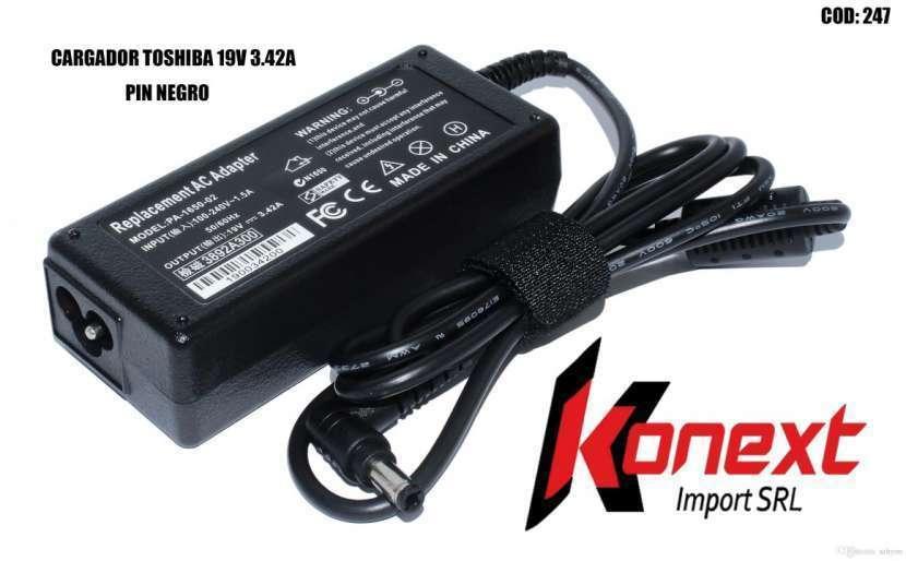 Cargador Toshiba 19V 3.42A pin negro (G) - 0