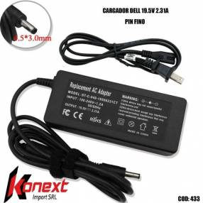 Cargador Dell 19.5V 2.31A pin fino (G)