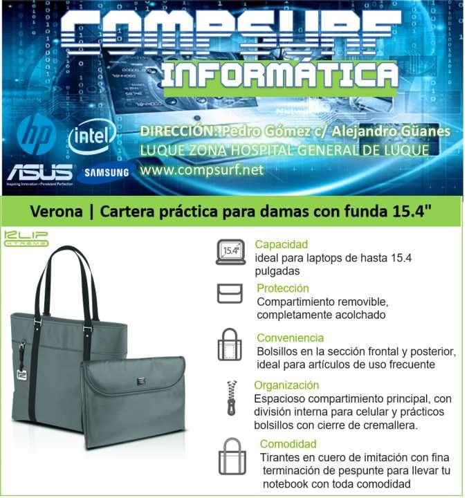 Cartera para Dama Klip Xtreme Verona laptop 15.4 pulgadas - 0