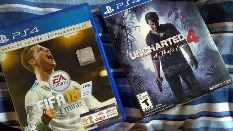 Fifa 18 y Uncharted 4 para PS4 - 0