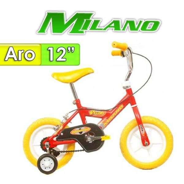 Bicicleta Piccolo Milano Rojo aro 12 - 0