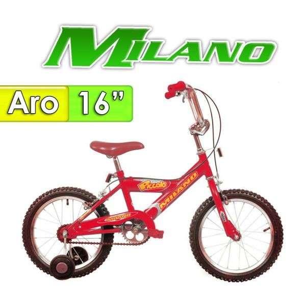Bicicleta Piccolo Milano Rojo aro 16 - 0