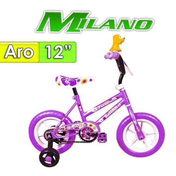 Bicicleta Fiorenza Plus Milano Lila aro 12 - 0