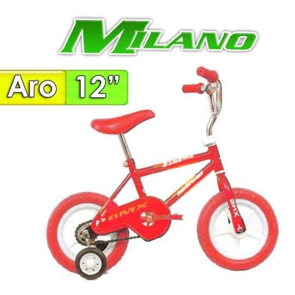 Bicicleta Bambino Milano Rojo aro 12 - 0