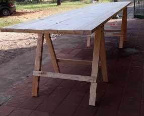 Mesas tipo tablones
