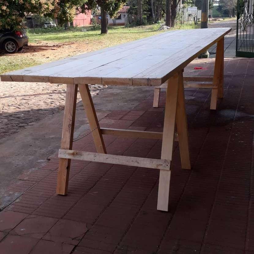 Mesas tipo tablones - 0