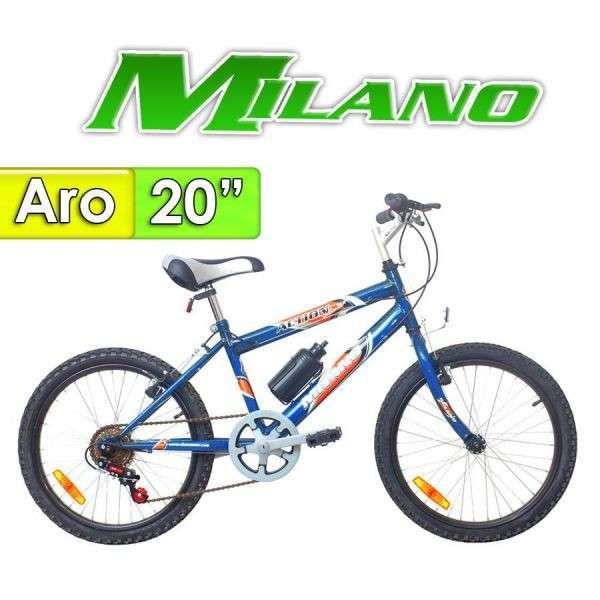 Bicicleta Action Milano Azul aro 20 - 0