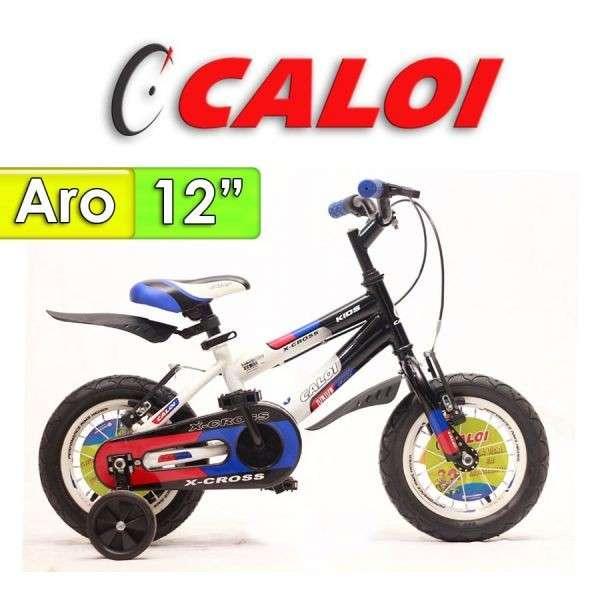Bicicleta X-Cross Caloi Negro con Azul aro 12 - 0