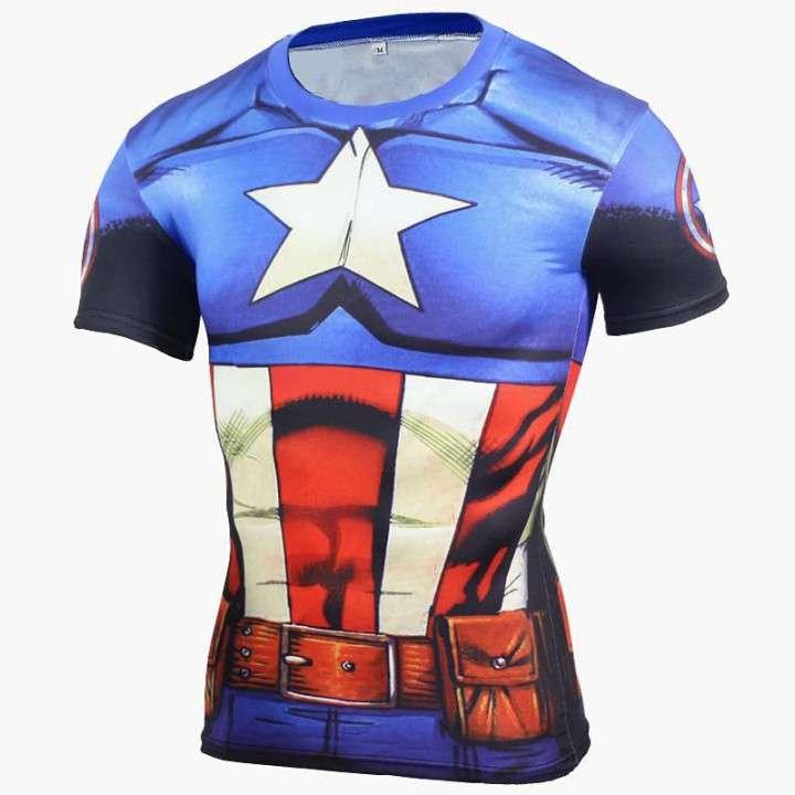 Remera de ciclismo y crossfit Capitan America - 0
