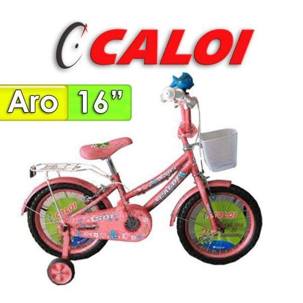 Bicicleta Sofi Caloi Rosada aro 16 - 0