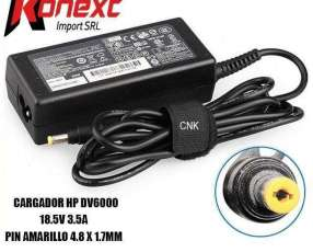 Cargador HP DV6000 18.5V 3.5A pin amarillo 4.8 X 1.7MM (G)