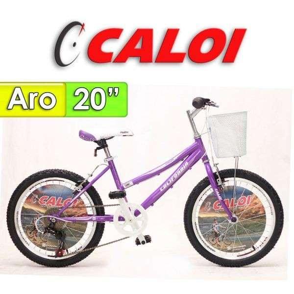 Bicicleta Aro 20 California Caloi Lila - 0