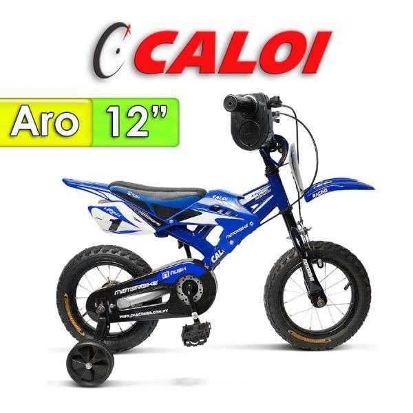 Bicicleta Moto Caloi Azul aro 12 - 0