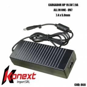Cargador HP AIO-DV7 7.4 X 5.0mm 19.5V 7.9A (G)