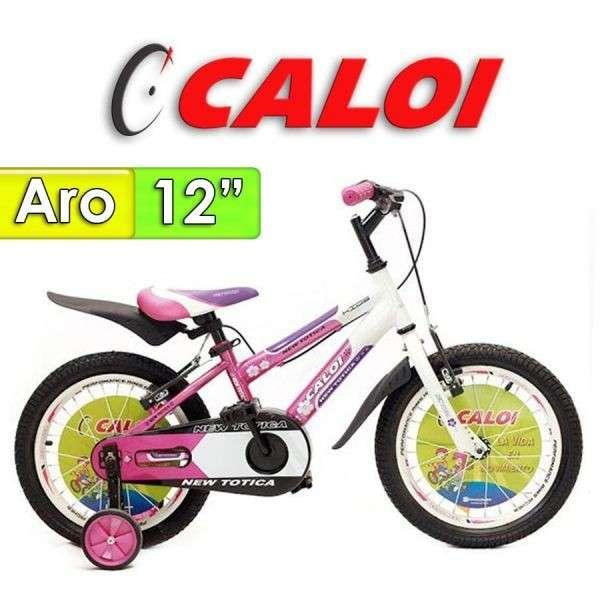 Bicicleta New Totica Caloi Fucsia aro 12 - 0