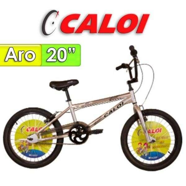 Bicicleta Aro 20 Pro Caloi Gris - 0