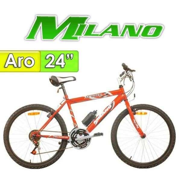 Bicicleta Action Caballero Milano Rojo 18 Velocidades - 0