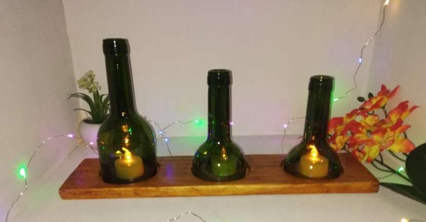 Veladores y salseros hechos de botellas de vidrio - 4