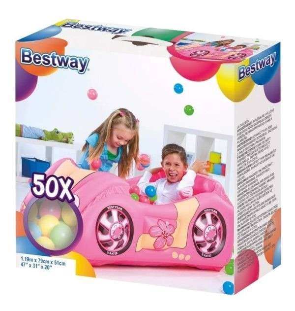 Pelotero inflable rosa - 3