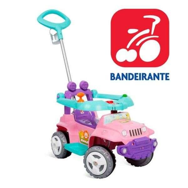 Autito Rosa Jeep Paseo y Andador de Bandeirante - 1056 - 0