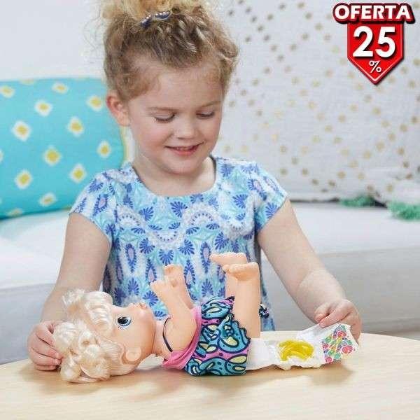 Muñeca Baby Alive Super Snacks Bebé Espagueti Rubia de Hasbr - 1