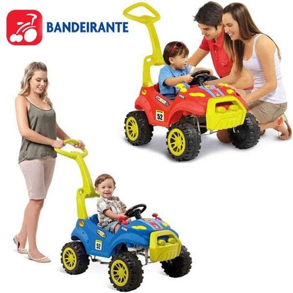 Auto a pedal Smart Paseo Rojo y Azul de Bandeirante - 0
