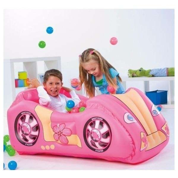 Pelotero inflable rosa - 2