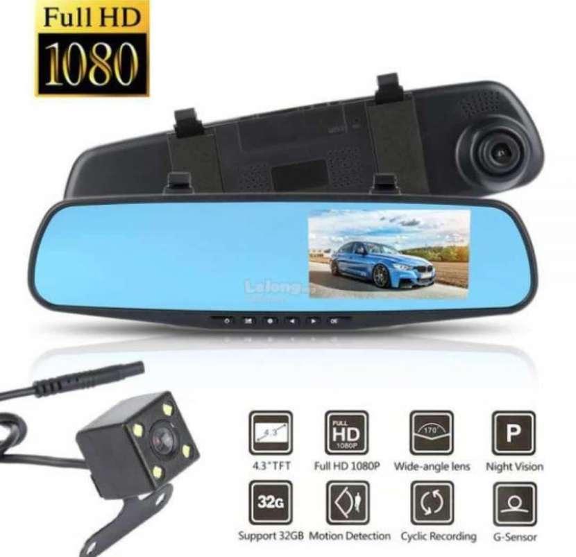 Espejo retrovisor DVR con cámara HD - 0
